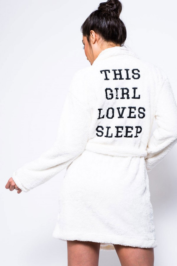 Mjuk Morgonrock - This Girl Loves Sleep Creme