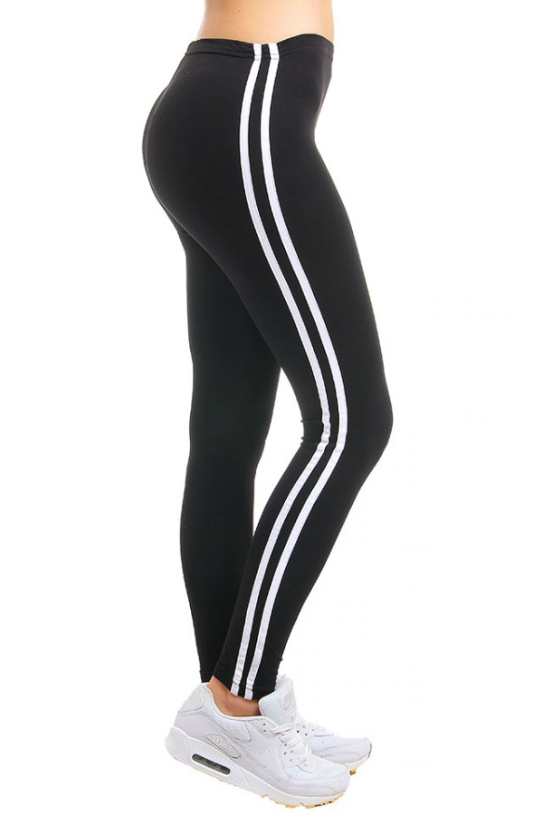 Svarta Tights - 2 Stripes