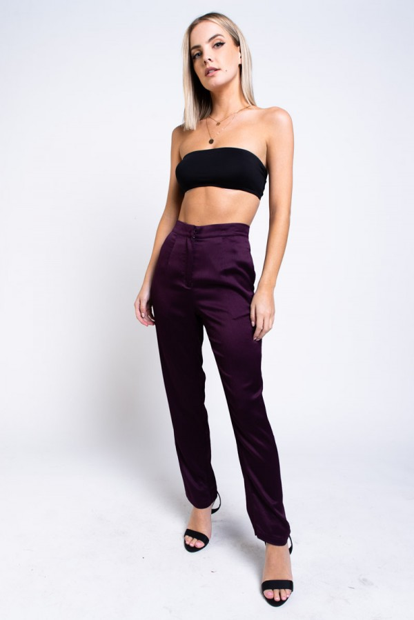 Byxor - Maci Pant Dark Purple