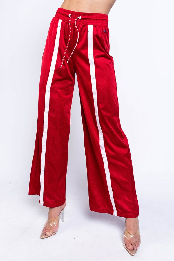 Track Pants - Red Popper Straight