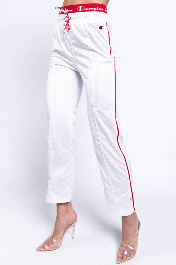 Track Pants - Straight Hem Pants White
