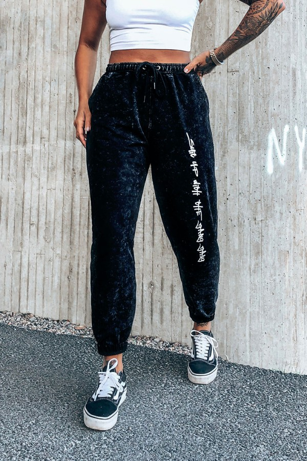 Svarta Sweatpants - Suit Up With The Gang Gang