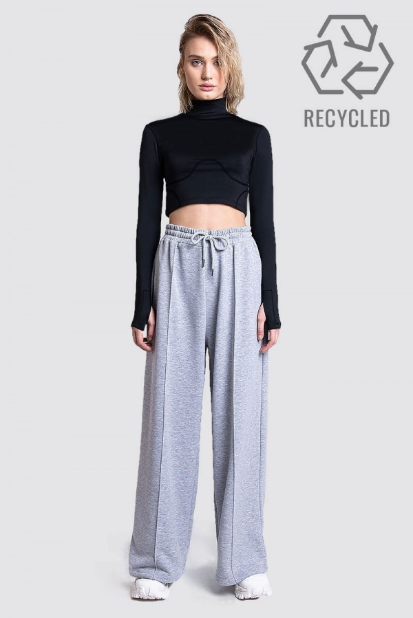 High waisted wide sweat pant - REC D-01