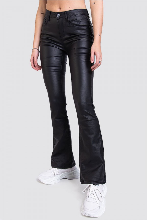 Mid Waisted Bootcut Faux Leather