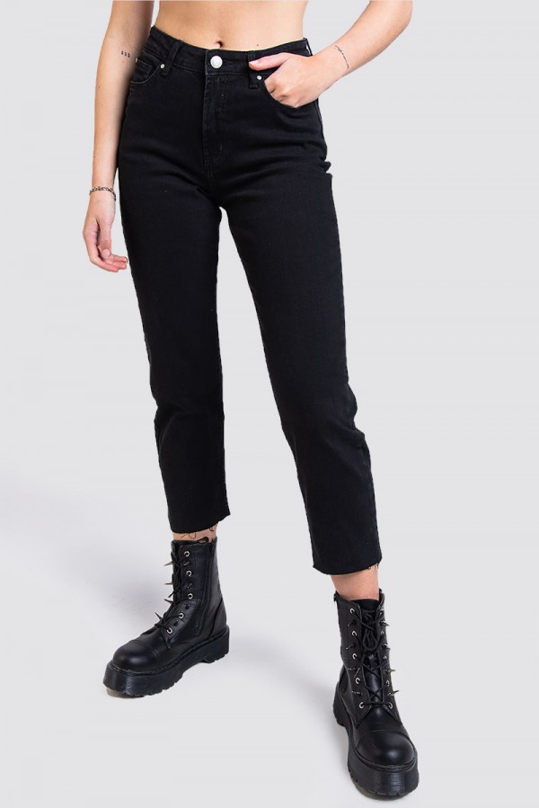 High Waist Black Skinny Fendu