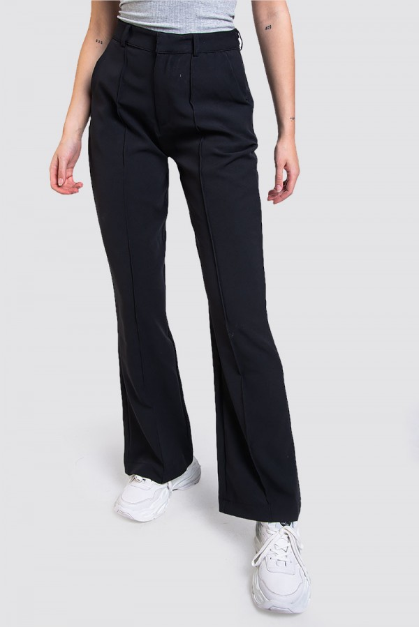 Kostymbyxor - Wide Suit Pant Black