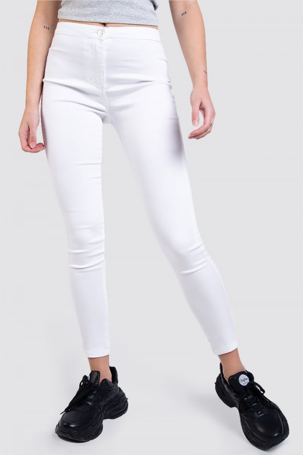 White High Waisted Jeggings