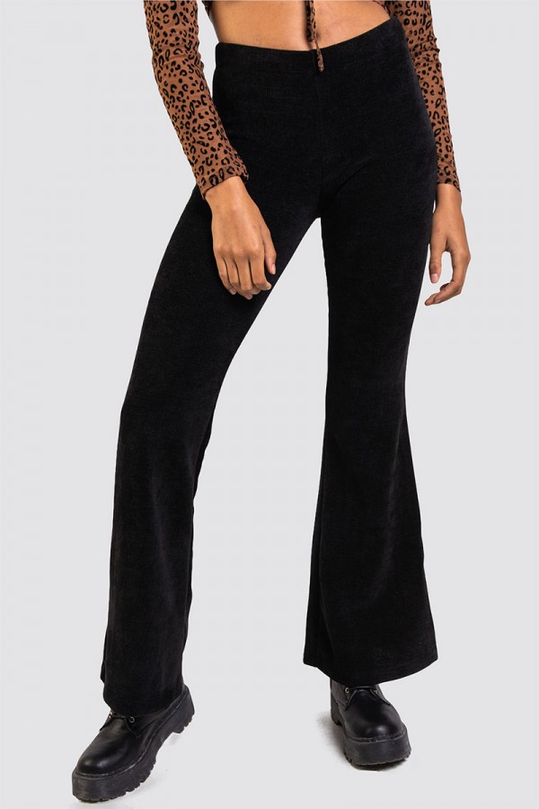 Tights I Manchester - High Curduroy Wide Pant Black