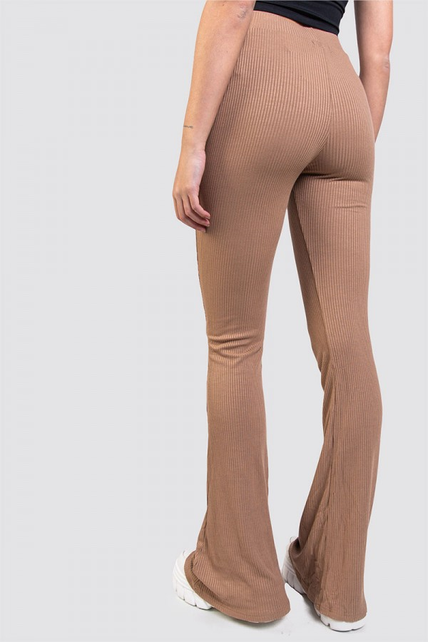 Tights - Ribbed Beige