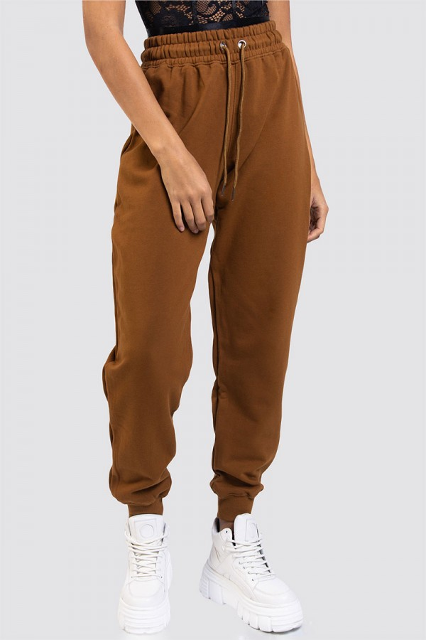 Retrofit Sweatpants - Brown