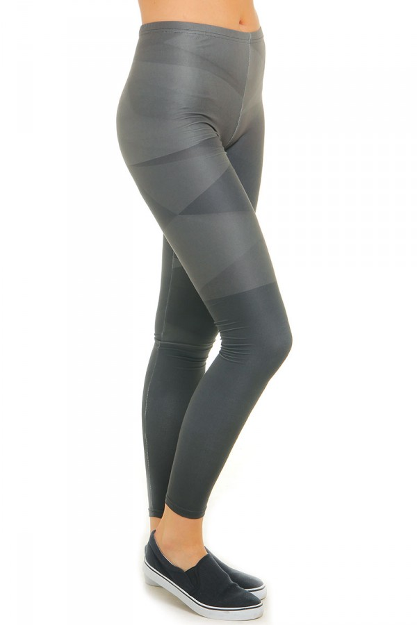 Leggings Med Mönster - Black Concrete