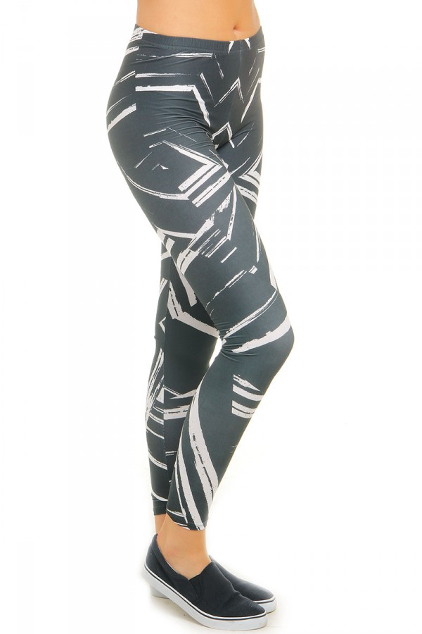 Leggings Med Mönster - Black White