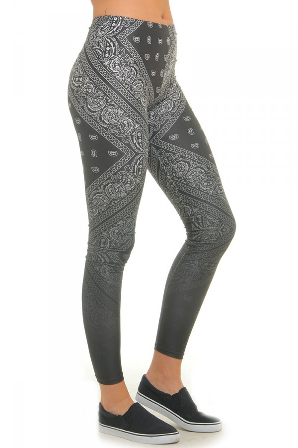 Leggings Med Mönster - Gradient Paisley