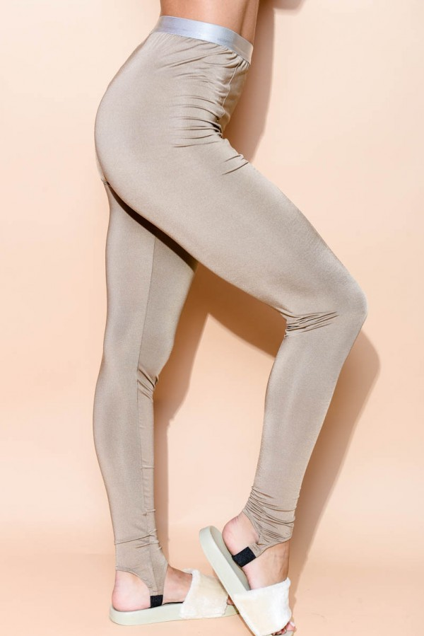 Glansiga Leggings - Dunes