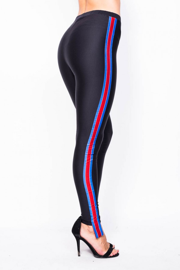 Leggings - Red Blue Stripes