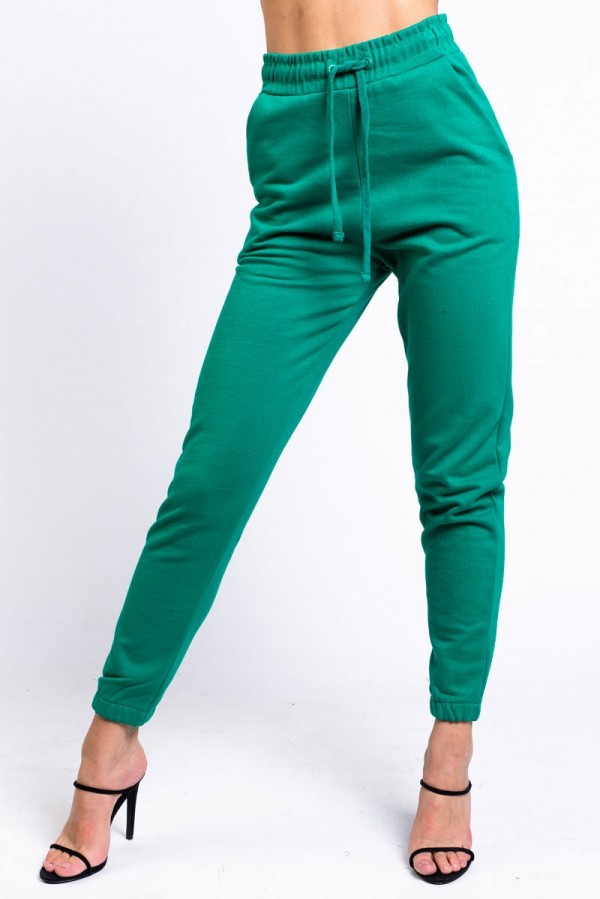 Högmidjade Sweatpants - Perfect Fit Electric Green