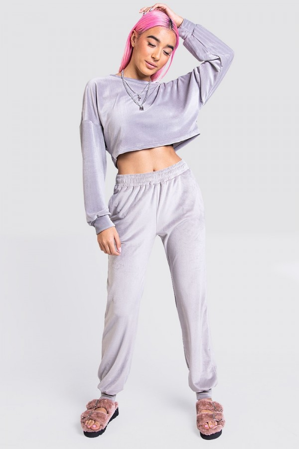 Croppat Set - Ultra Soft Light Grey