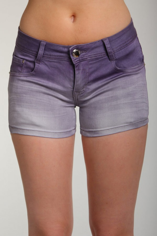Lila Shorts - Dip Dyed Purple - REA