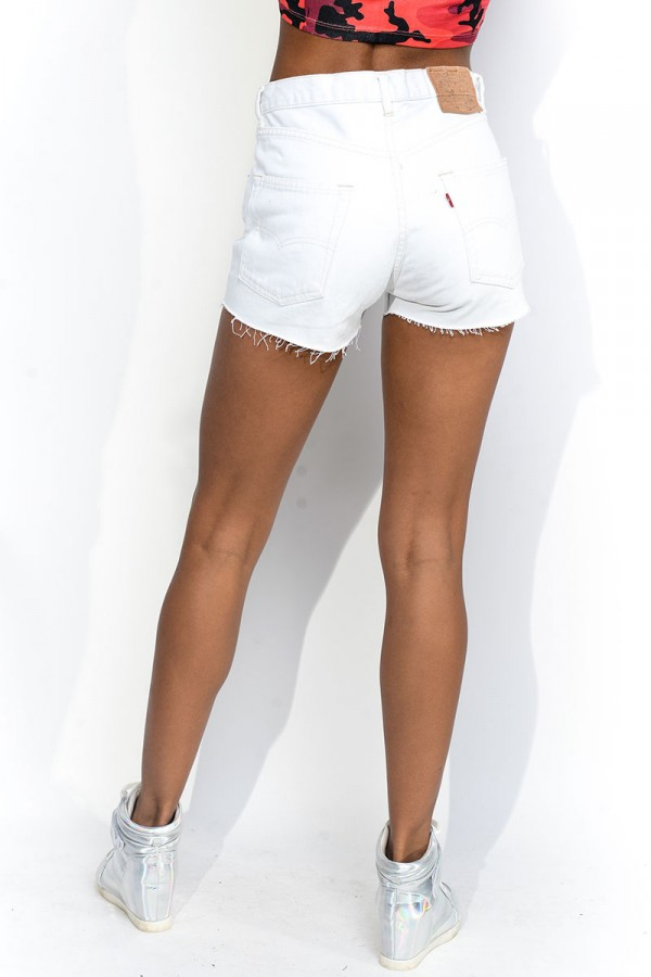 Slitna Levis Shorts - White