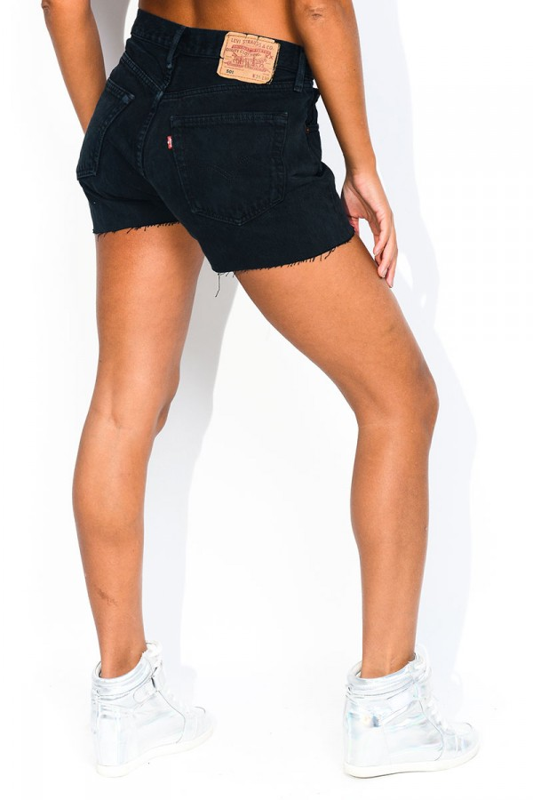 501 Levis Shorts - Black Cali