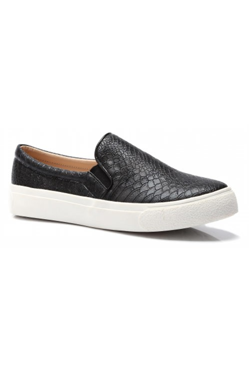 Svarta Slip-On Skor - Black Snake