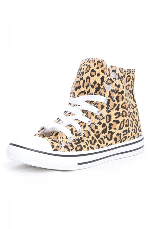 Leopardmönstrade High Top Skor - Leo