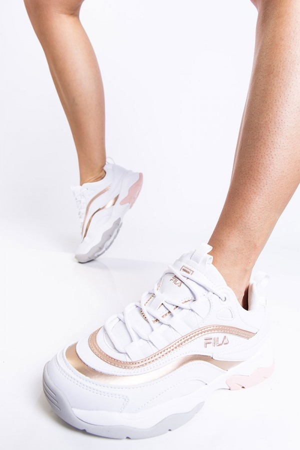 Sneakers - Ray F Low White / Spanish Villa