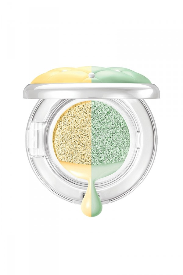 Mineral Wear Talc-Free Cushion Corrector + Primer Duo SPF 20 - Yellow/Green