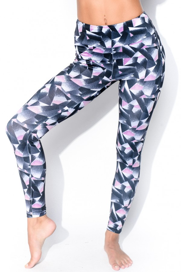 Sporttights - Edgy Grey & Pink