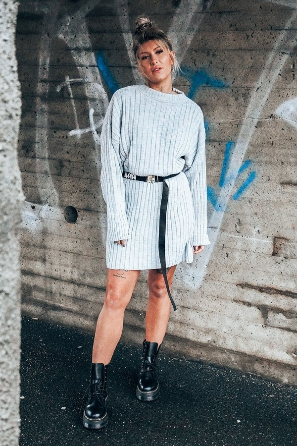 Perfect Knitted Dress Grey