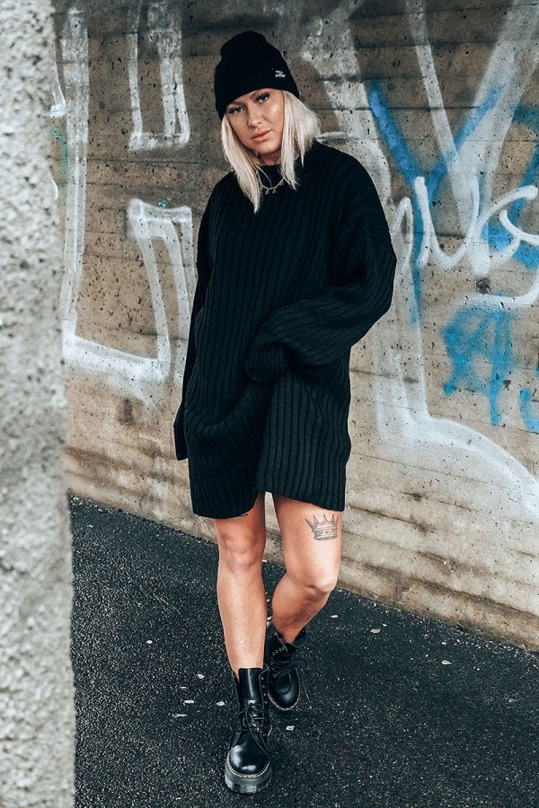 Perfect Knitted Dress Black