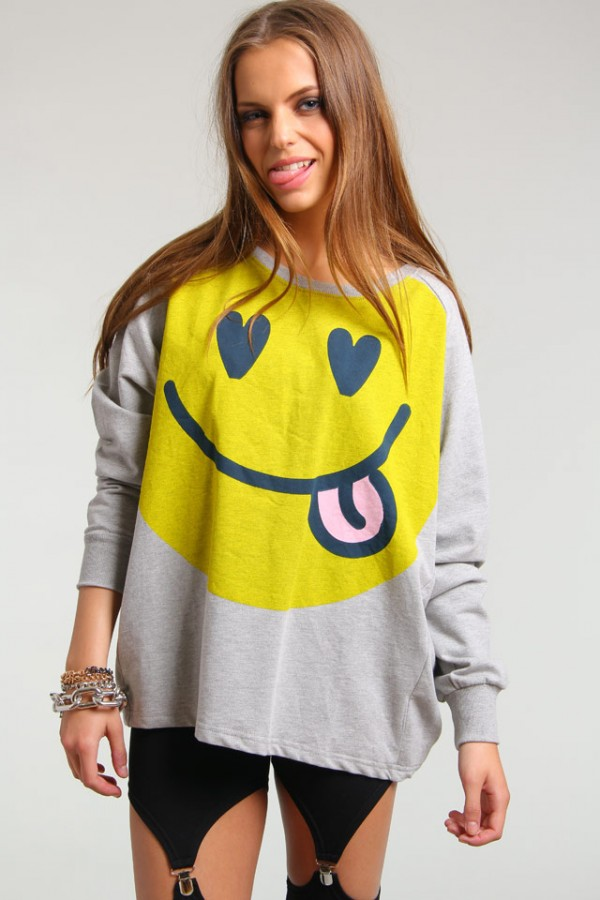 Happy Face Sweatshirt - Smiley