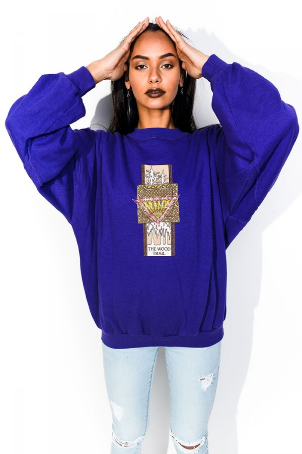 Vintage Sweatshirt - Purple Tramp