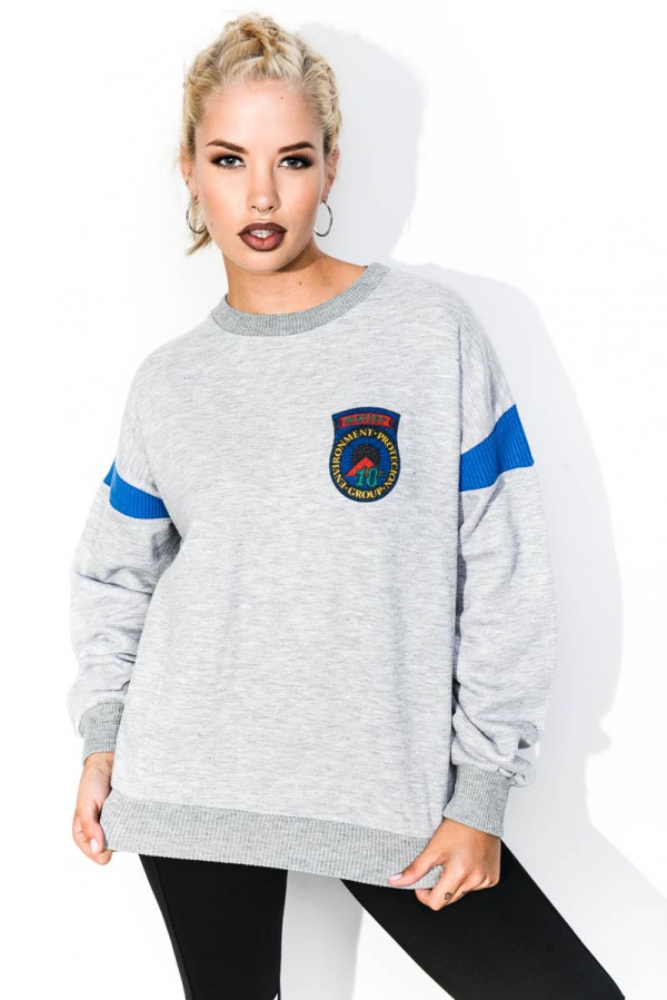 Vintage Sweatshirt - Grey Retro