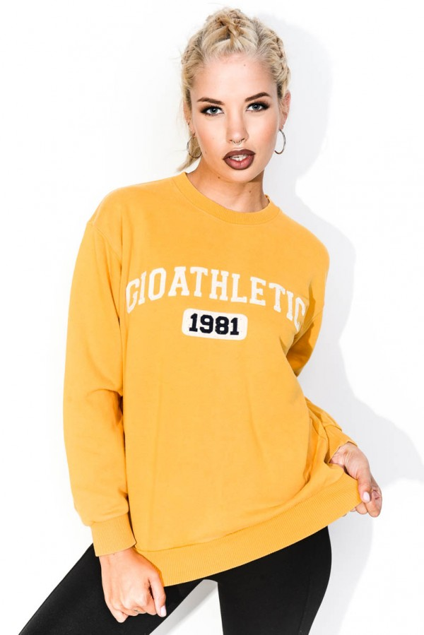 Vintage Sweatshirt - Yellow Athletic