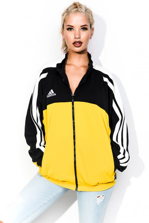 Vintage Zip - Adidas Black & Yellow