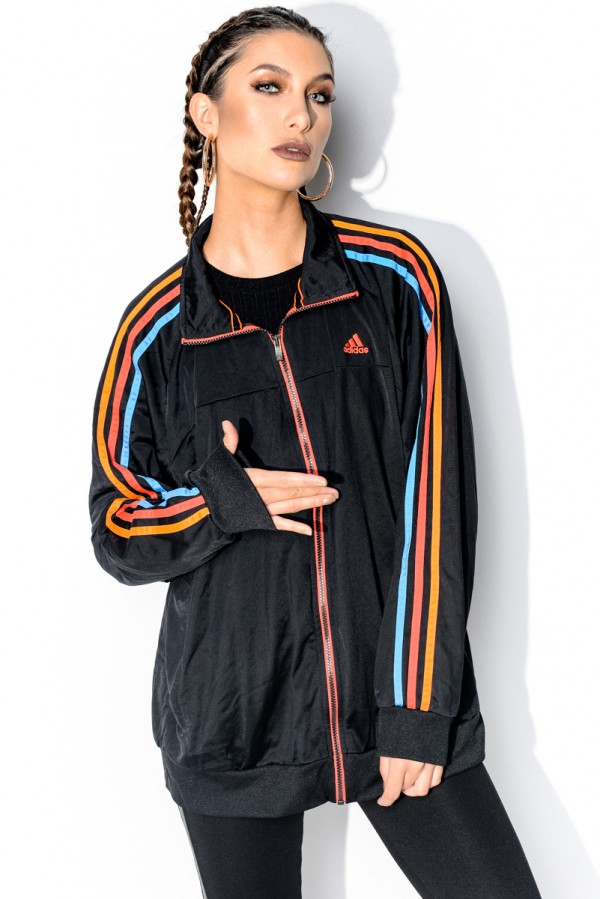 Vintage Zip - Colour Striped Adidas