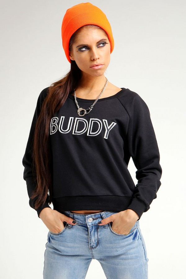Svart Sweatshirt - Buddy