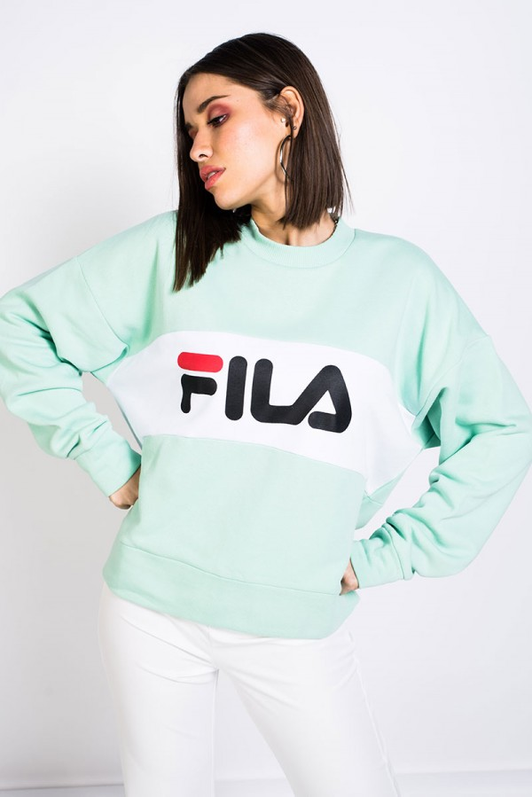 Leah Crew Sweat - Lichen Green