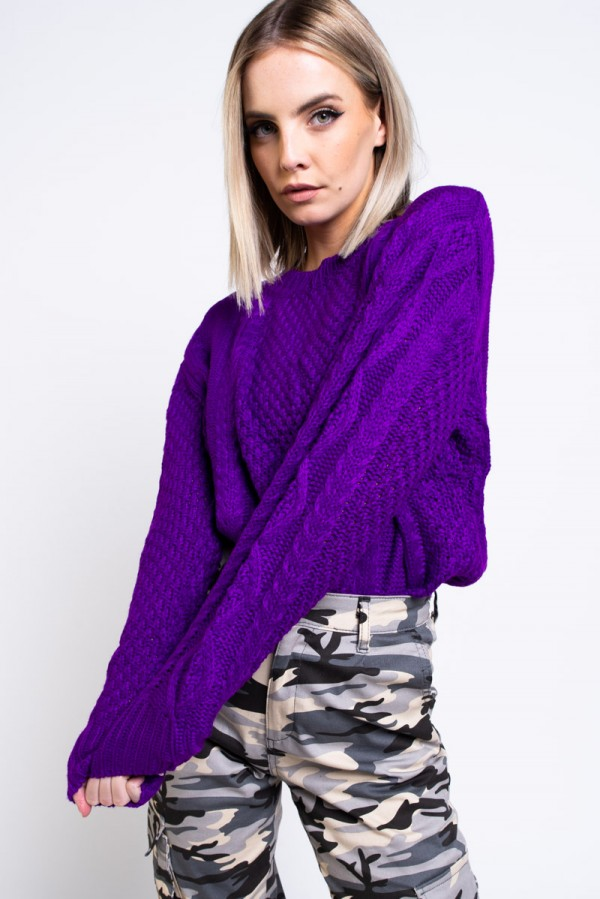 Tröja- Knitted Plum Cosy