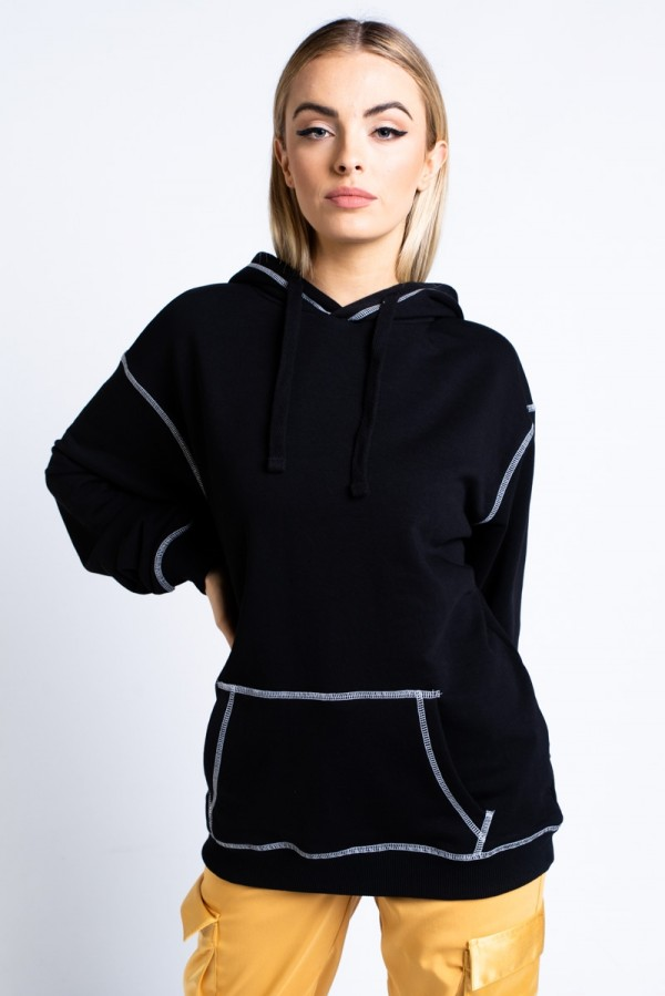 Oversize Hoodie - Contrast Stitches