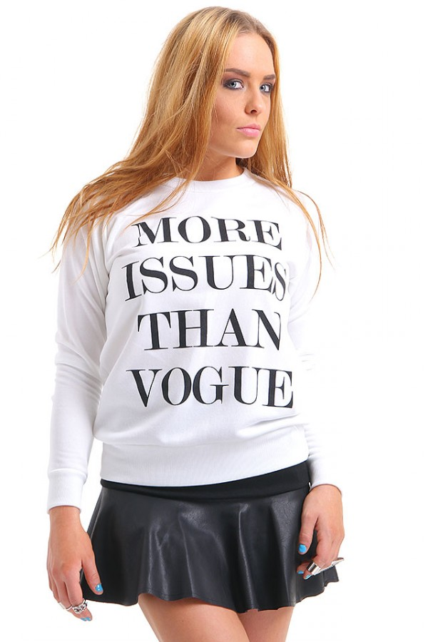 Vit Sweatshirt - More Issues Than Vogue