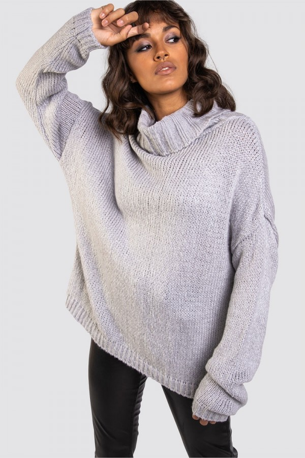 Stickad Tröja - Knitty Soft Grey