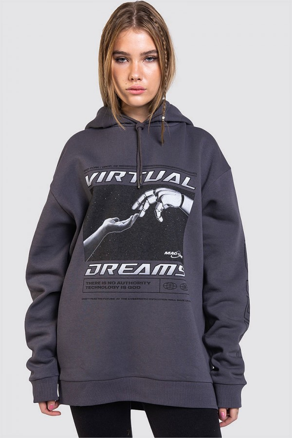 Hoodie Med Tryck - Virtual Dreams