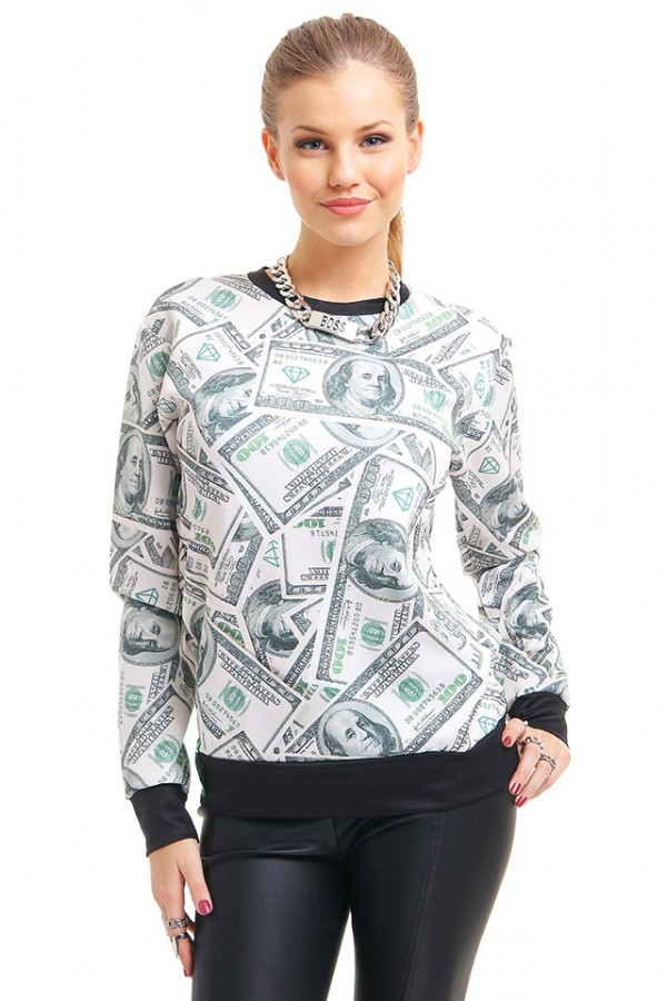 Cool Sweatshirt Med Dollar - Benjies