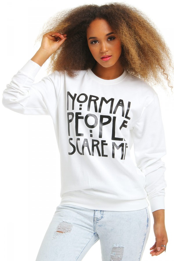 Vit Sweatshirt - Normal People Scare Me