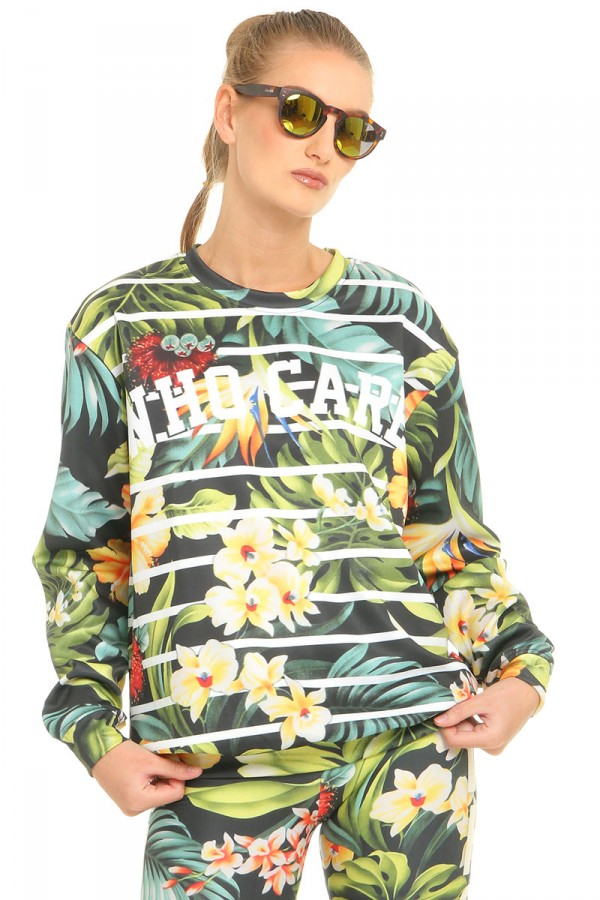 Sweatshirt Med Tryck - Jungle Exotica