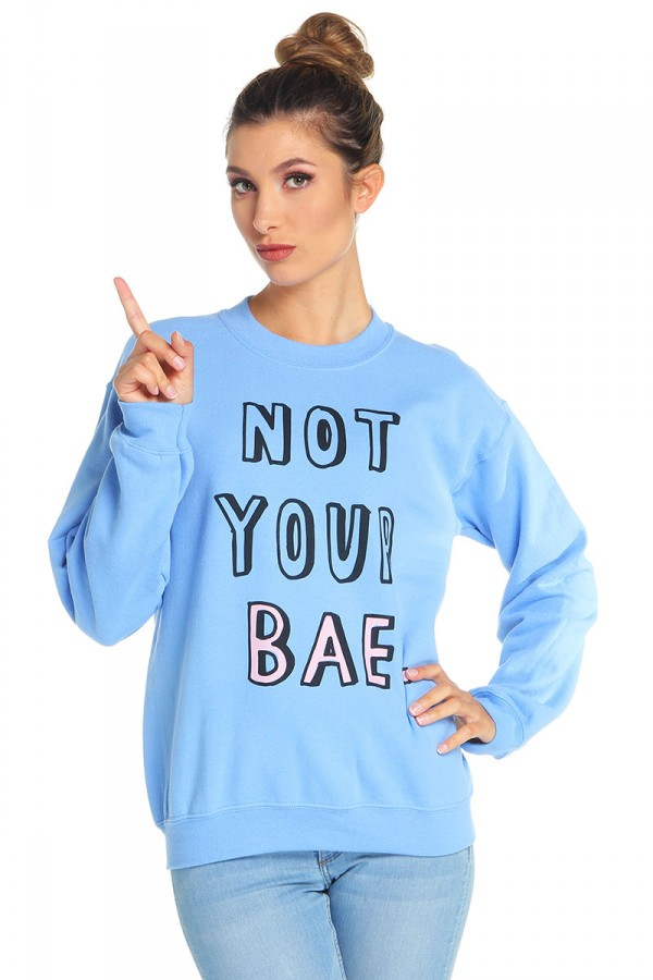 Blå Sweatshirt - Not Your Bae