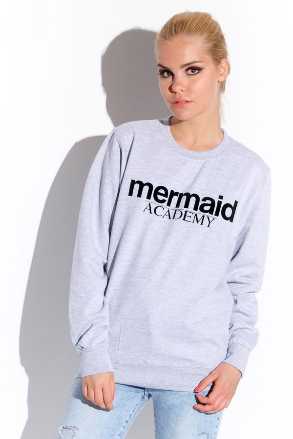 Grå Sweatshirt - Mermaid