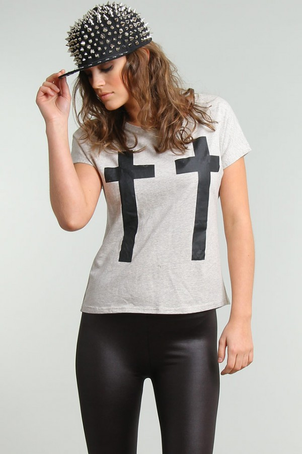 T-shirt med kors - 2 crosses